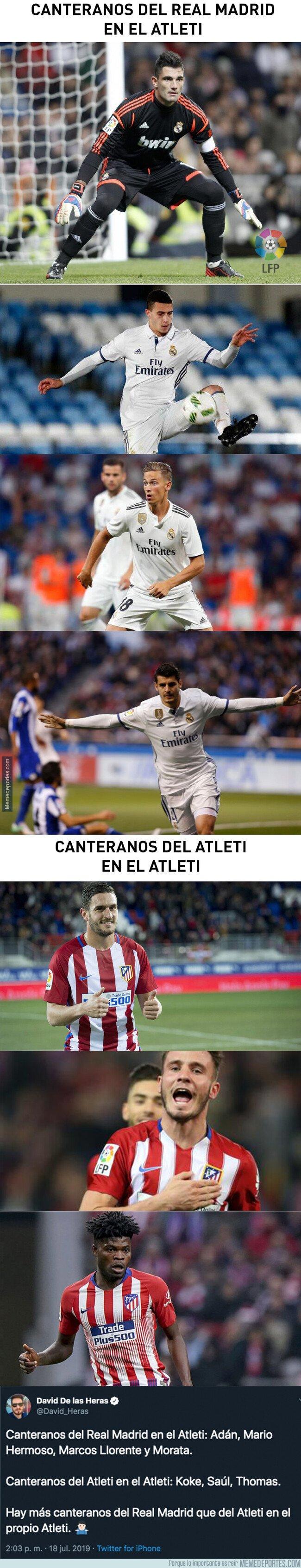1081487 - El dato de los canteranos del Real Madrid en el Atleti que está escociendo y mucho a sus aficionados