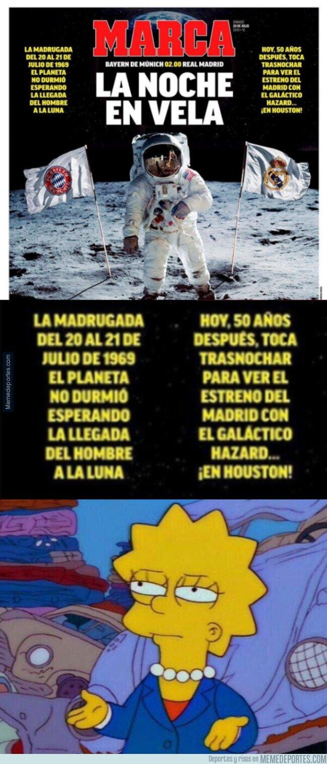 1081541 - Cuando comparan la primera vez que el hombre pisó la luna con un amistoso del Madrid