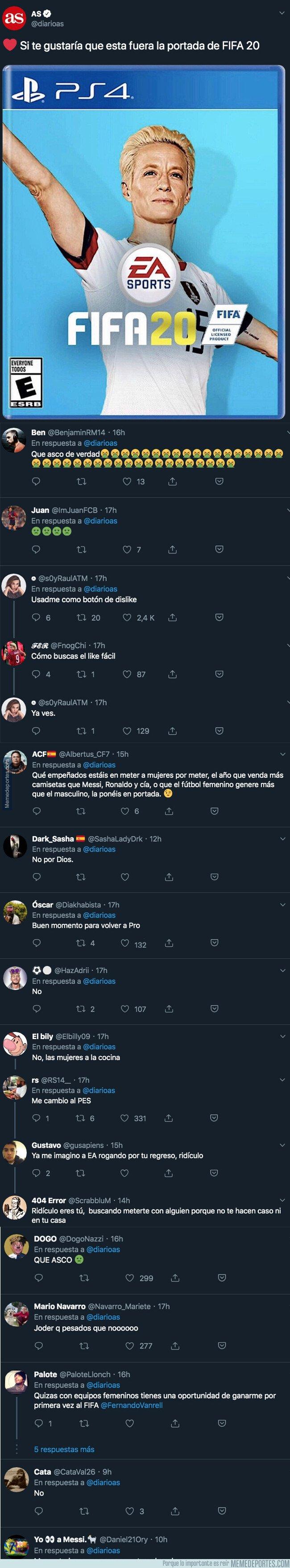 1082019 - El diario 'AS' pregunta si quieren a Rapinoe como portada del FIFA 20 y están recibiendo todos estos repugnantes comentarios