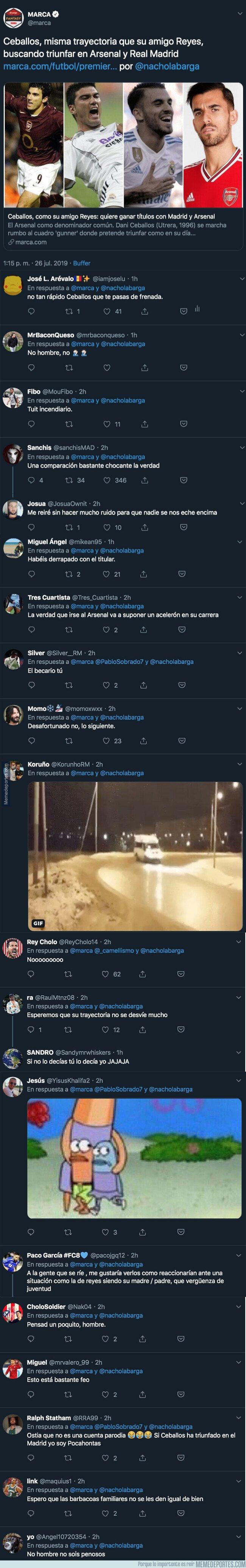 1082036 - El diario MARCA pone un polémico titular sobre Ceballos y Reyes y la gente de Twitter responde con mucho humor negro