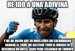 Enlace a Nairo Quintana hace un par de años