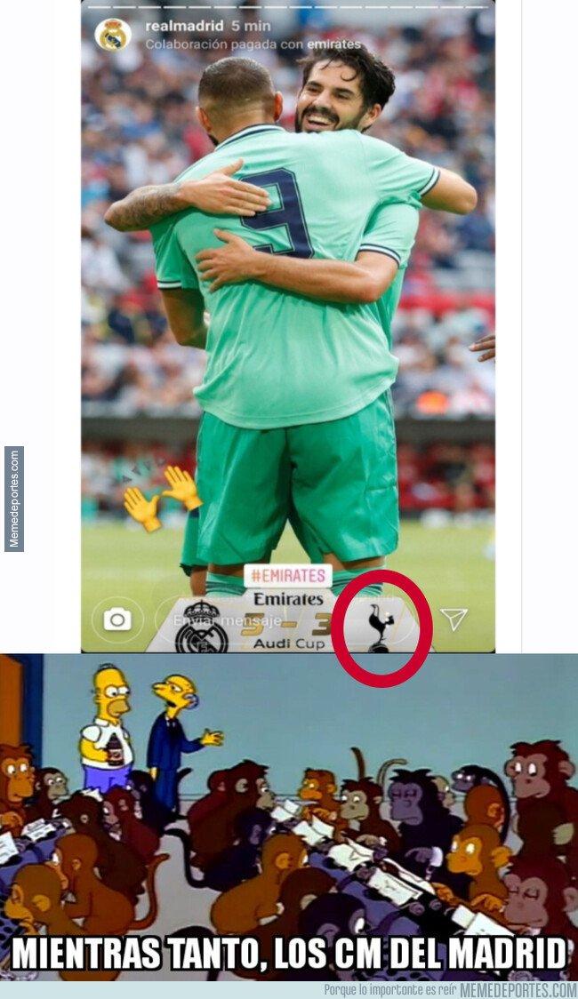 1082443 - El Madrid publicó una historia con el escudo del Tottenham en vez del Fenerbahce