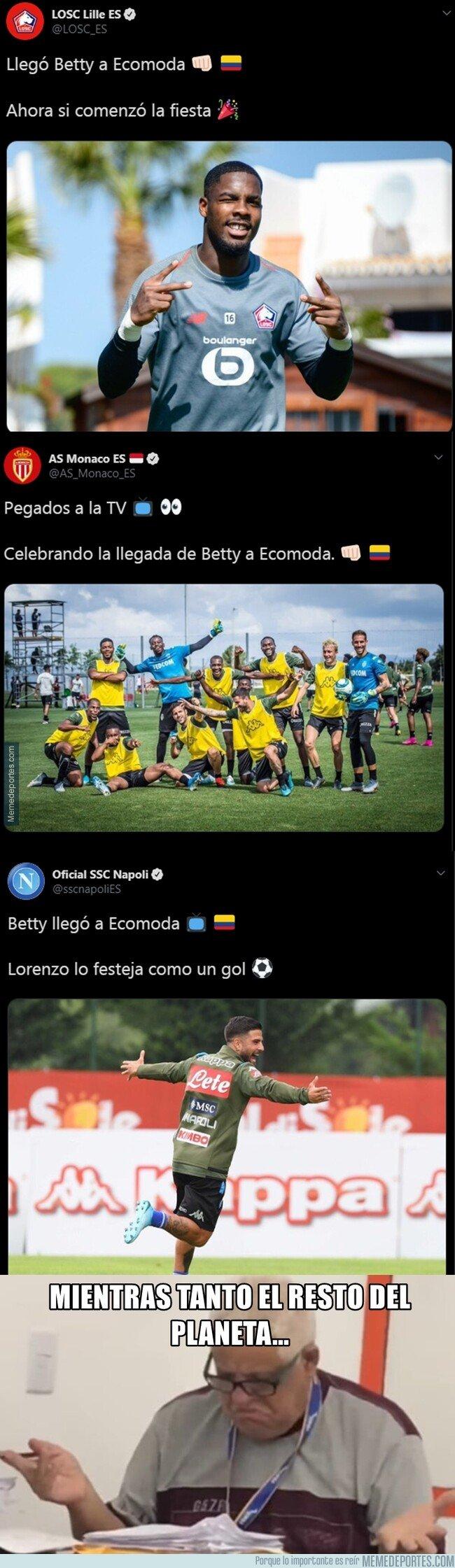 1082623 - ¿Por qué algunas cuentas en español de algunos equipos europeos están tan excitados con Betty?