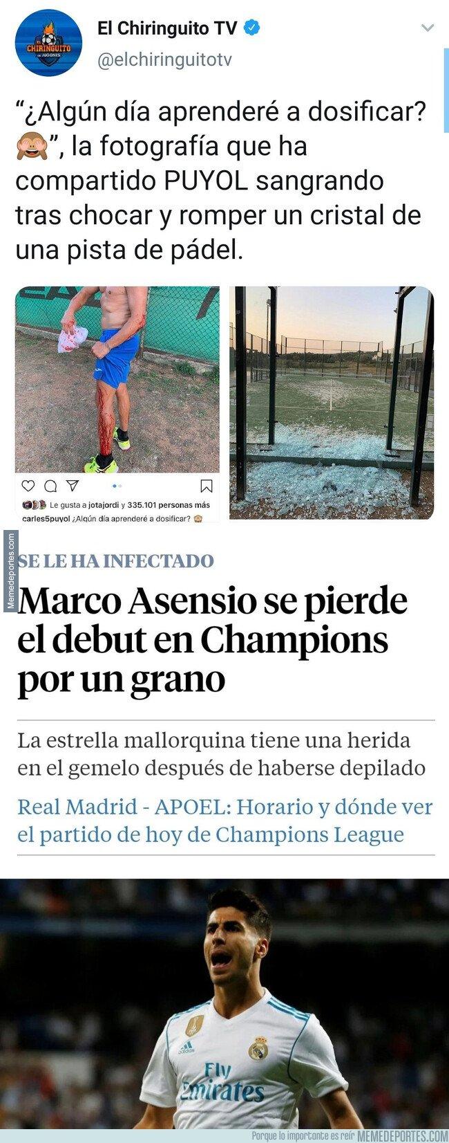 1082918 - La gran diferencia entre Carles Puyol y Asensio