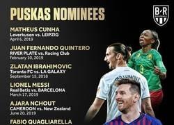 Enlace a Los nominados al premio Puskas a mejor gol del año 2018/19