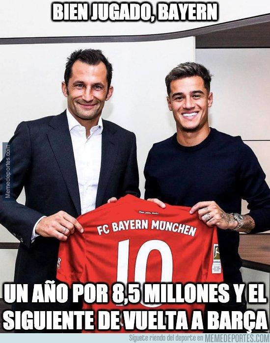 1083780 - Coutinho fue presentado con el Bayern de Munich, pero con una cláusula de compra muy prohibitiva