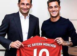 Enlace a Coutinho fue presentado con el Bayern de Munich, pero con una cláusula de compra muy prohibitiva