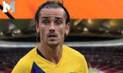 Enlace a Así terminó la placa de Griezmann en el primer partido de la temporada en el Wanda Metropolitano