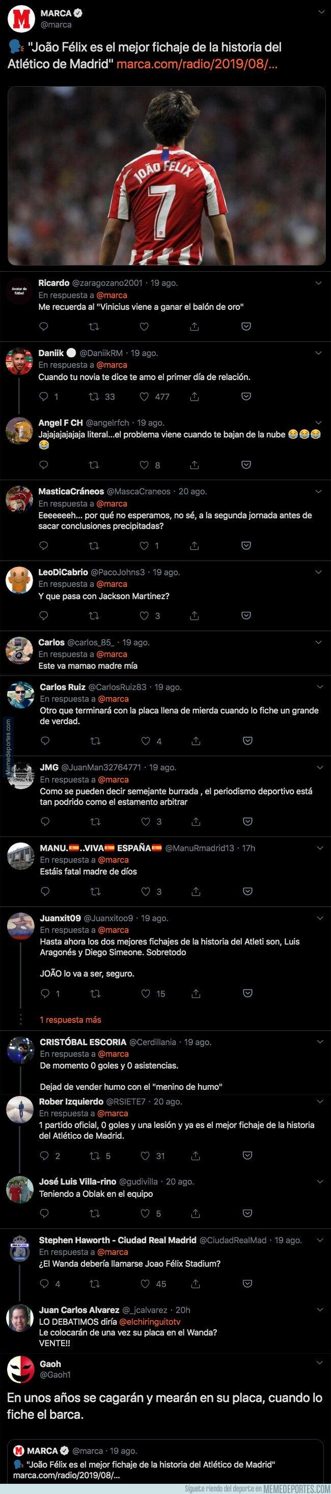 1083921 - Todo el mundo está criticando duramente esta frase que han dicho sobre Joao Felix tras jugar solamente un partido con el Atlético de Madrid