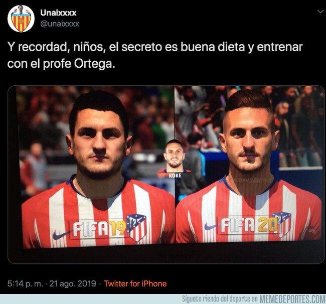 1083935 - La gran diferencia del físico de Koke entre el FIFA 19 y FIFA 20, por @unaixxxx