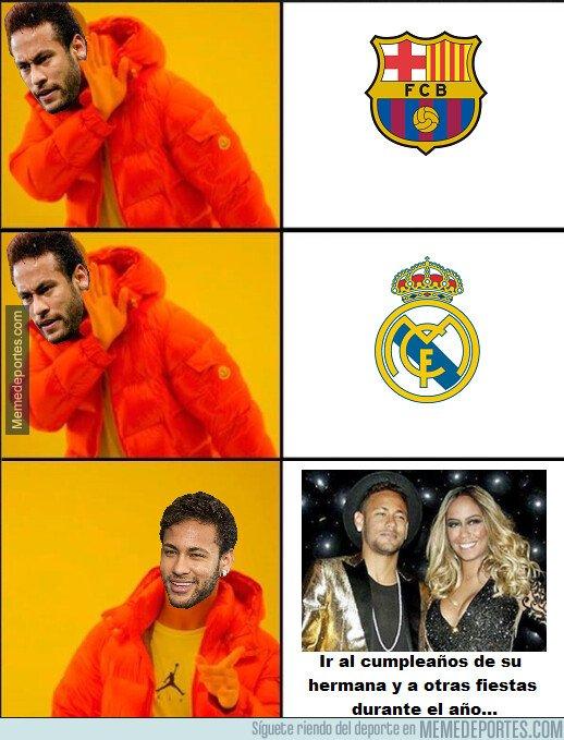 1084039 - Todos preocupándonos por el posible nuevo equipo de Neymar, y a él sólo le importa poder seguir saliendo de fiestas...