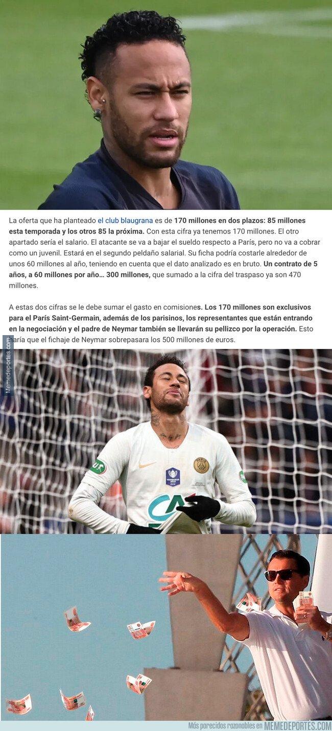 1084391 - La brutal cantidad de dinero que debería pagar el Barça para fichar a Neymar
