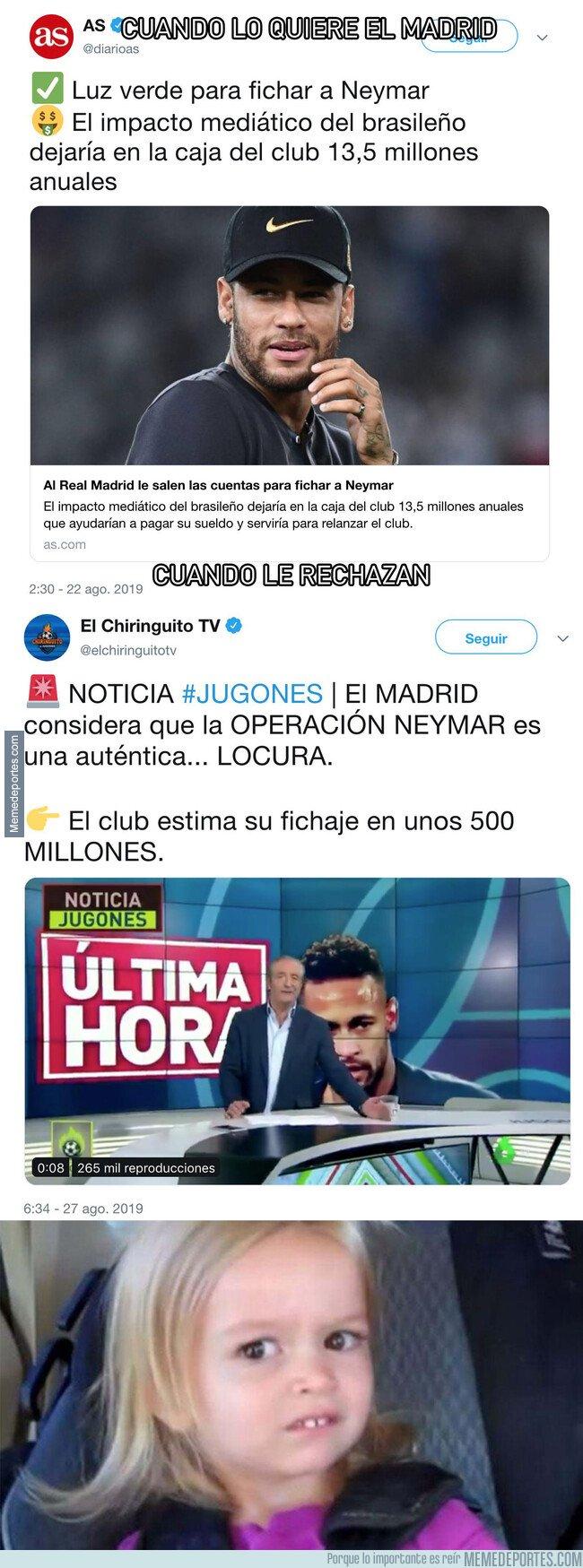 1084396 - El doble rasero increíble que hay en la prensa ahora que Neymar ha rechazado al Real Madrid