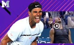 Enlace a El auténtico puntazo que acaba de hacer Rafael Nadal en el US Open que ha puesto hasta a Tiger Woods en pie
