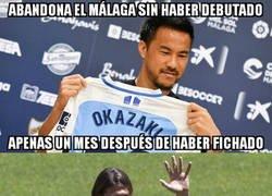 Enlace a Okazaki en el Málaga se ha marcado un Demichelis en el Atleti