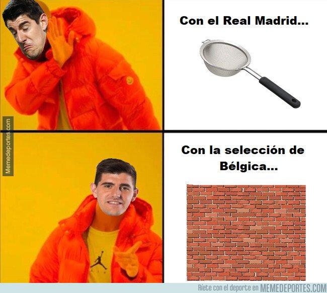 1085203 - Diferencias de Courtois cuando juega con el Real Madrid y cuando juega con su selección...