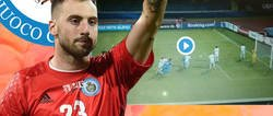 Enlace a Benedettini, portero de San Marino, protagonizó uno de los fallos de la jornada: se le escapó la pelota entre las piernas frente a Chipre