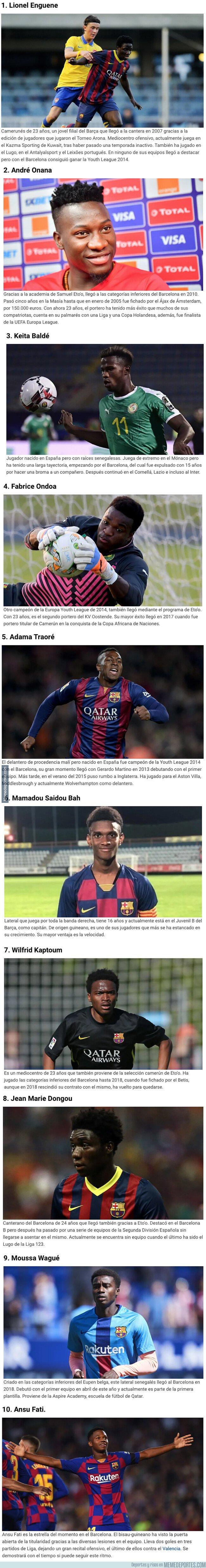 1085945 - Estos son los 10 últimos canteranos africanos que ha tenido el Barça en su equipo