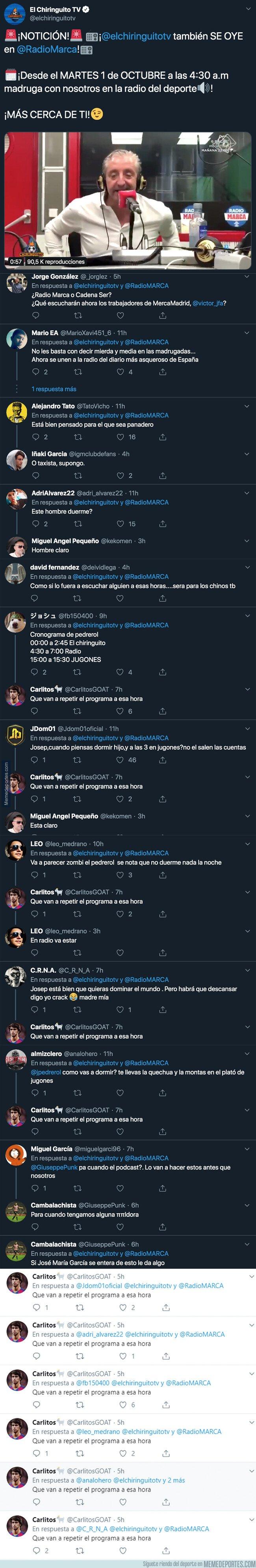 1086939 - Pedrerol anuncia que El Chiringuito podrá escucharse en esta famosa emisora de radio y todo el mundo está preguntándose lo mismo