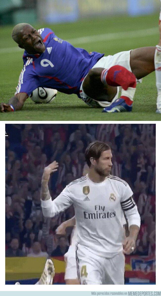 1087144 - El típico gesto de Ramos que hace rabiar a todos los jugadores