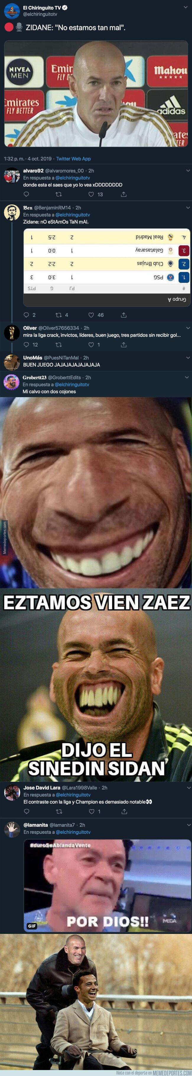 1087614 - Indignación total por lo que Zinedine Zidane ha dicho sobre su equipo en la rueda de prensa previa al partido de Liga