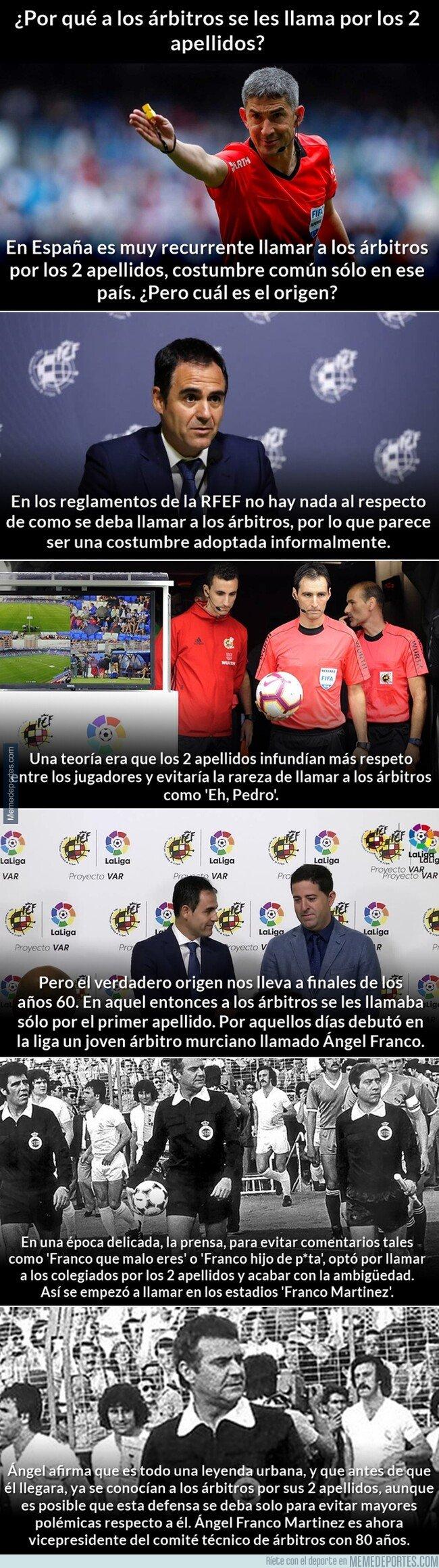 1087906 - ¿Por qué en España llaman a los árbitros por los dos apellidos?