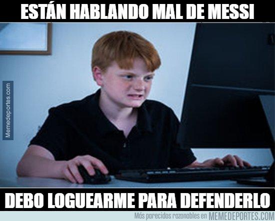 1088185 - Tranquilo niño, Messi no necesita que lo defiendas
