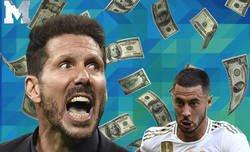 Enlace a El gran palo del Cholo Simeone a Hazard por el precio que costó usando a Joao Felix de por medio