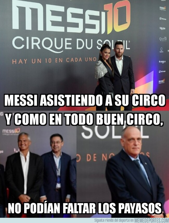 1088218 - Leo Messi y los payasos de su circo