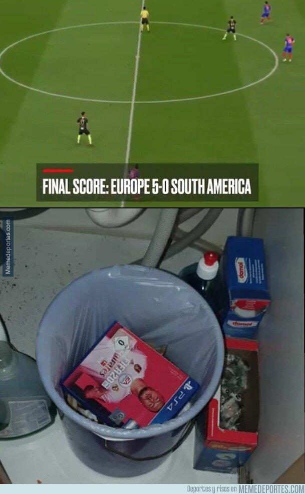 1088318 - Recrearon un Europa vs Sudamérica en el FIFA 20 y salió esto