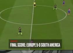 Enlace a Recrearon un Europa vs Sudamérica en el FIFA 20 y salió esto