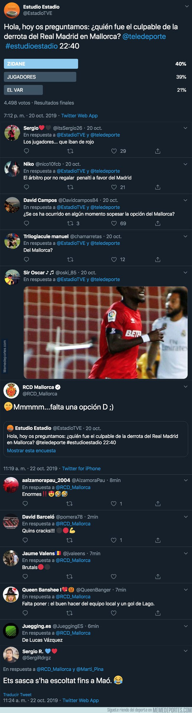 1088999 - 'Estudio Estadio' de TVE hace esta pregunta sobre el Real Madrid y su último partido perdido y el Mallorca aprovecha para lanzarles un revés monumental