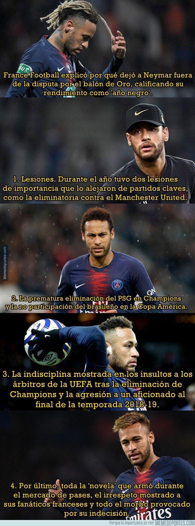 1089036 - France Football explica por qué Neymar no estuvo en la lista de los 30 nominados al Balón de Oro
