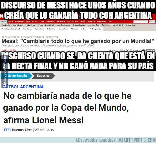 1089405 - Messi cambia drásticamente de discurso