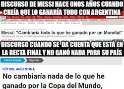 Enlace a Messi cambia drásticamente de discurso