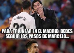 Enlace a Marcelo siempre fue un referente para Reguilón
