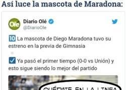 Enlace a Maradona ya tiene su propia mascota