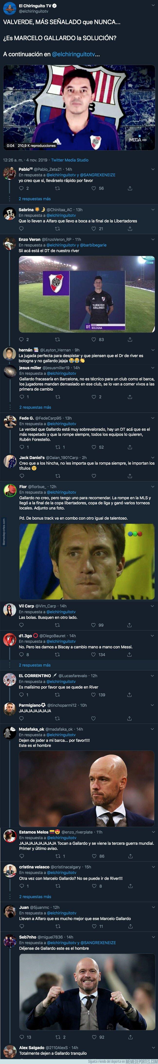 1090063 - 'El Chiringuito' anuncia a Marcelo Gallardo como posible nuevo entrenador del Barça y los argentinos no tardan en responder