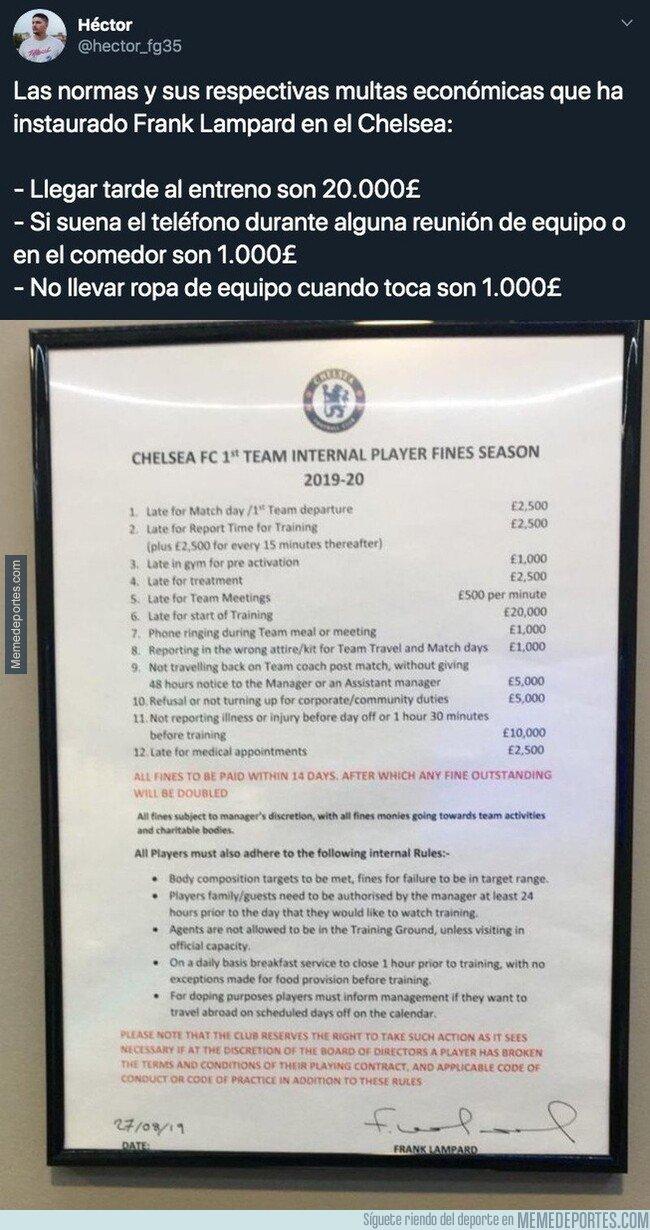 1090986 - Sale a la luz las multas que Frank Lampard ha impuesto en el Chelsea si se saltan todos estos puntos y son una auténtica locura