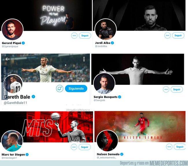 1091304 - En estos perfiles de Twitter podemos ver que jugadores se sienten orgullosos del equipo que les paga?