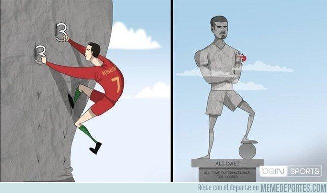 1091368 - Cristiano va camimo de ser el máximo goleador de la historia de la selecciones, por @footytoonz