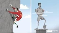 Enlace a Cristiano va camimo de ser el máximo goleador de la historia de la selecciones, por @footytoonz