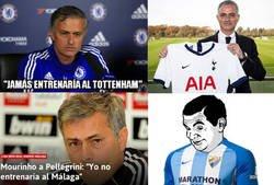 Enlace a Mourinho está a un cuarto de hora de entrenar al Málaga