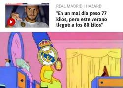 Enlace a Hazard se pasó celebrando su fichaje por el Madrid