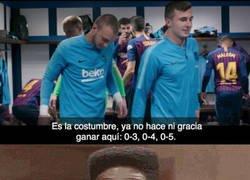 Enlace a Esto dije Piqué en vestuario tras ganar en el Bernabéu la semifinal de Copa del año pasado