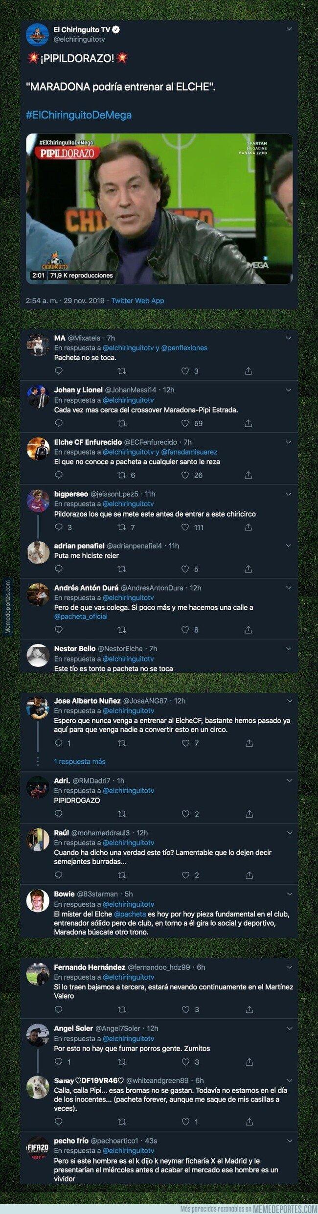 1092284 - Pipi Estrada anuncia quien será el nuevo entrenador del Elche y todo el mundo está alucinando