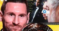Enlace a El mejor regate de su carrera: Messi y la tremenda cobra que le hace a Edu Aguirre que fue a sacar el titular rápido