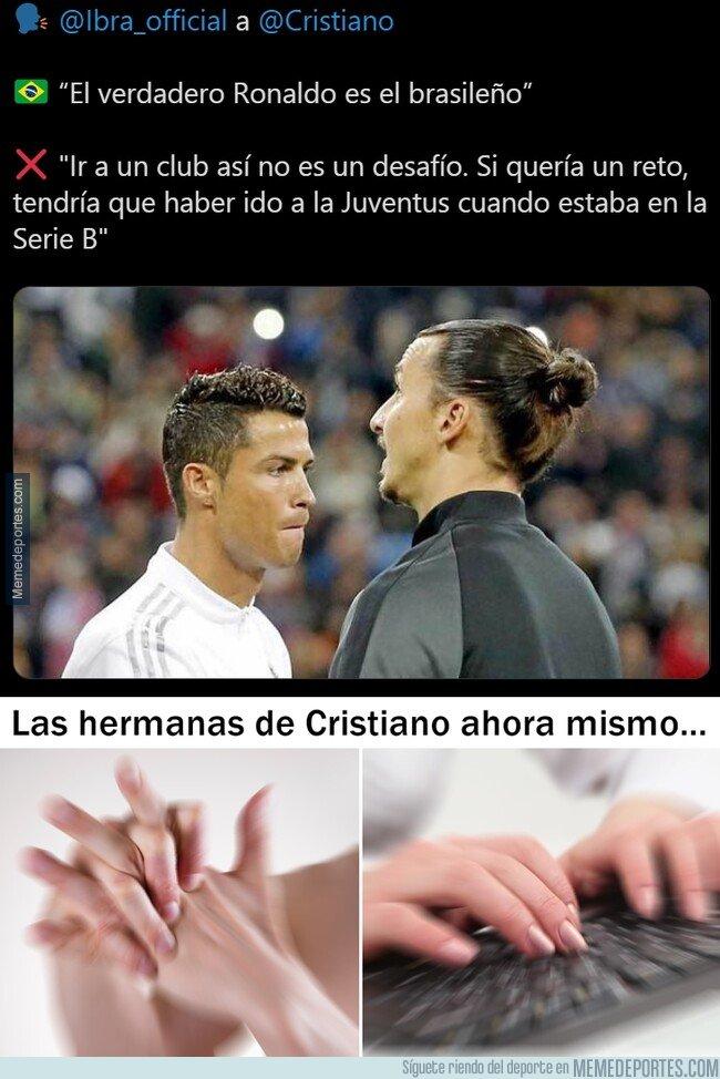1092748 - Otro palo a Cristiano por parte de Ibrahimovic. Todos atentos a Instagram.