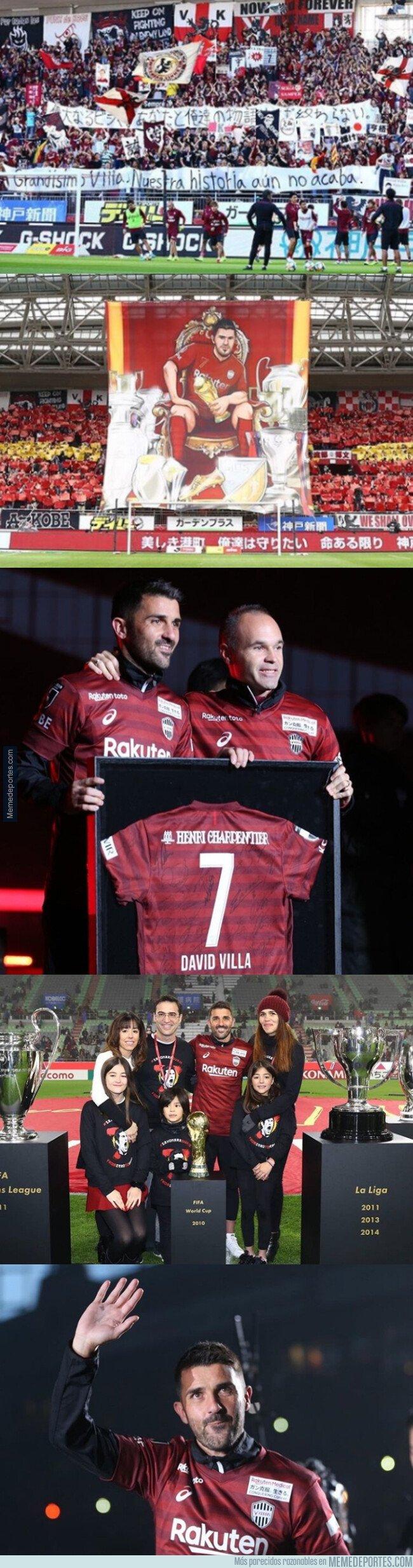 1092850 - Las mejores imágenes del homenaje a Villa en su último partido con el Vissel Kobe