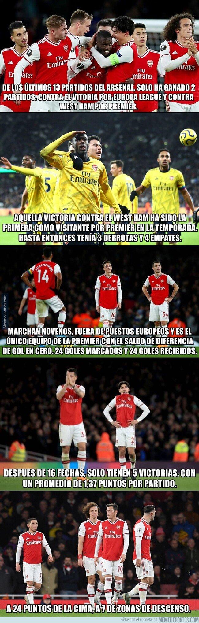 1093413 - La temporada del Arsenal en números es para darse de cabeza contra la pared
